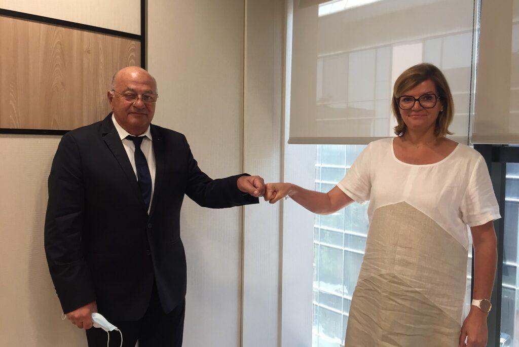 Joël Bernard et Florence Gete, la nouvelle présidente du CEGAA.