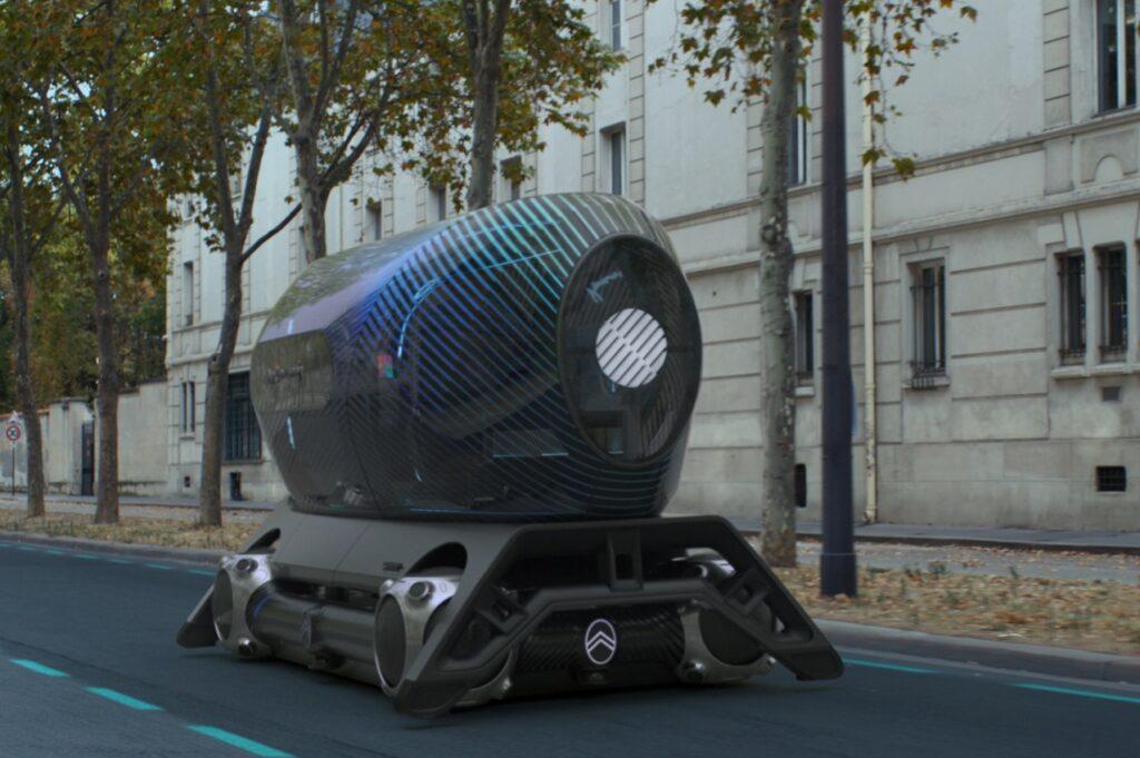 Le Citroën Autonomous Mobility Vision évoluant avec le pod Pullman Power Fitness.