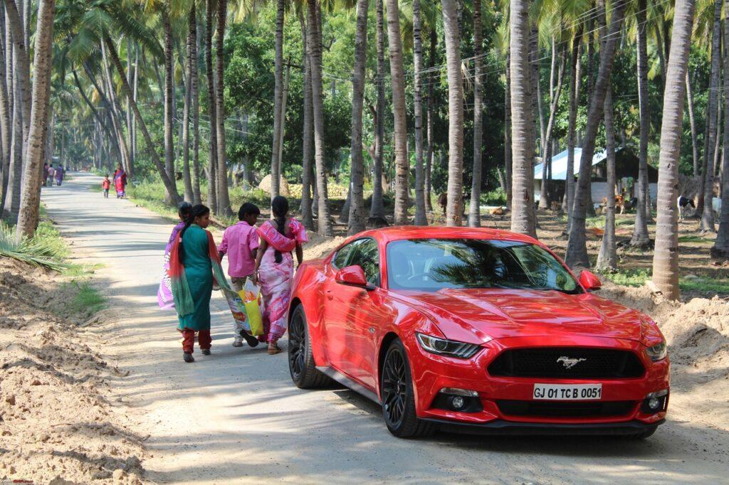 Ford reste sur le marché indien, notamment avec la Mustang.
