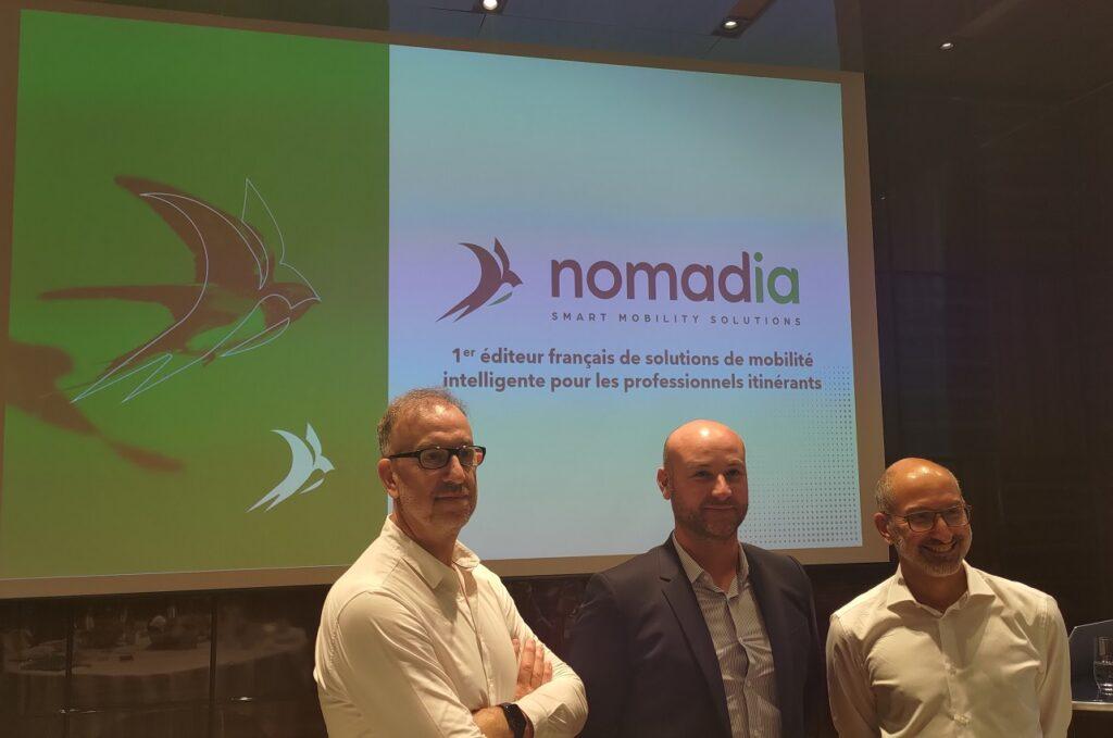 Franck Garel, le CTO, Jérémy Mandon, le directeur commercial, et Fabien Breget, le CEO de Nomadia.