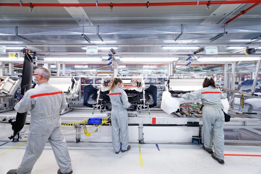 Toyota a réduit sa production de 40 M en septembre 2021, comme ici sur le site de Valenciennes (59).