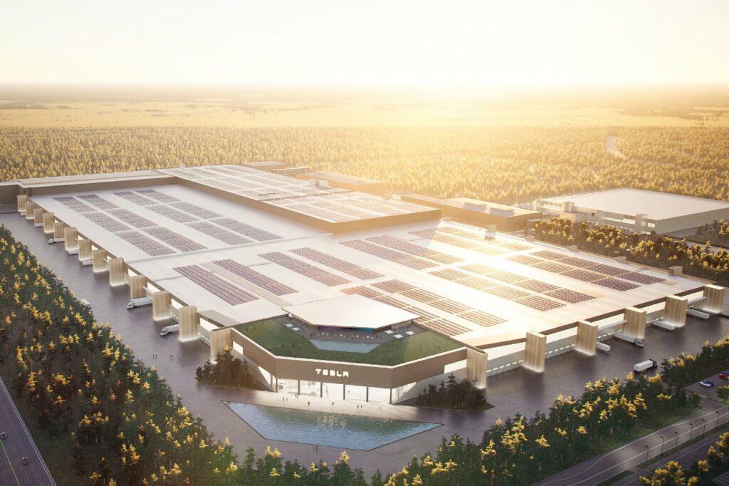 L'usine Tesla de Berlin était ouverte au public le 9 octobre 2021.