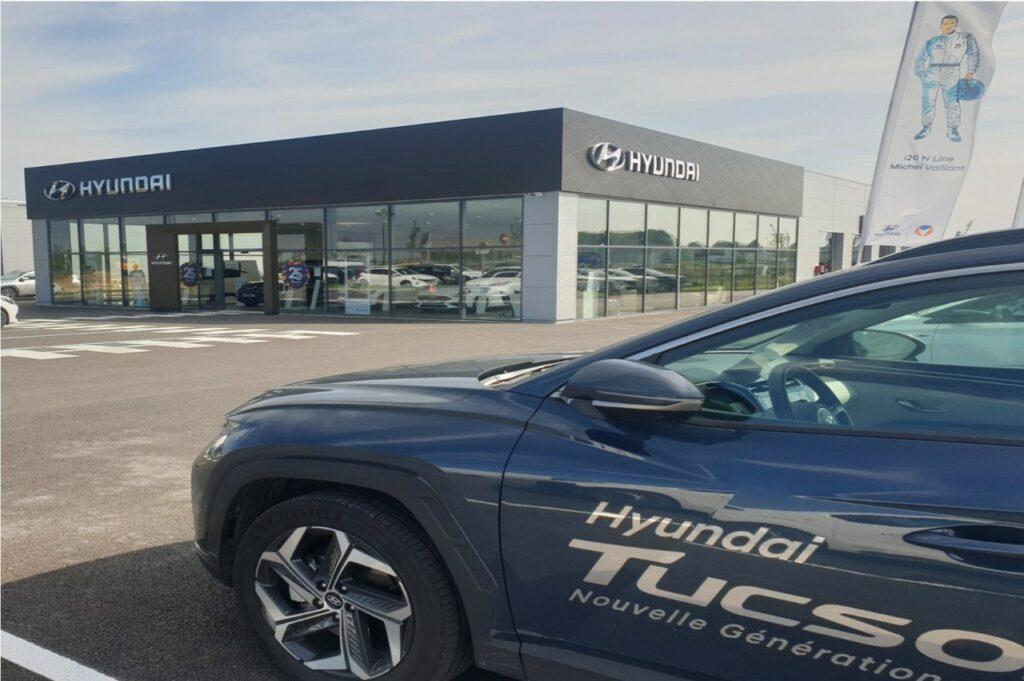 Le groupe Hyundai dispose de 196 points de vente en France (ici, le site d'Amiens).