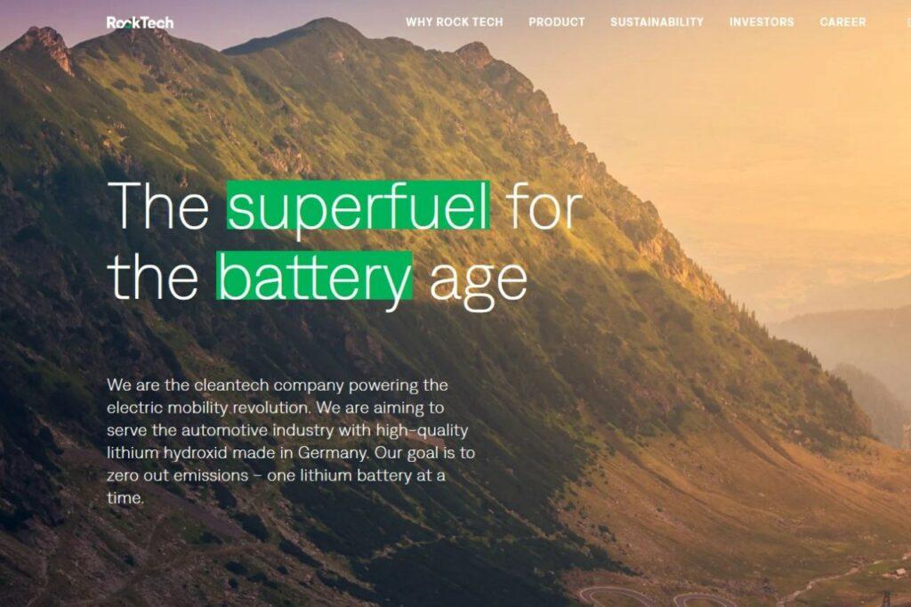 La société canadienne Rock Teck Lithium va implanter une usine en Allemagne en 2024.