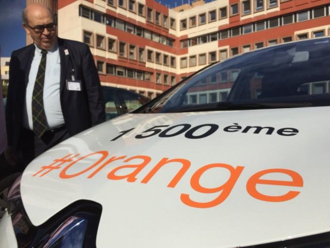 Chez Orange, il y a déjà 1500 véhicules en autopartage.