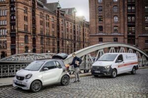 A Hambourg, les Smart serviront de points de livraison de colis