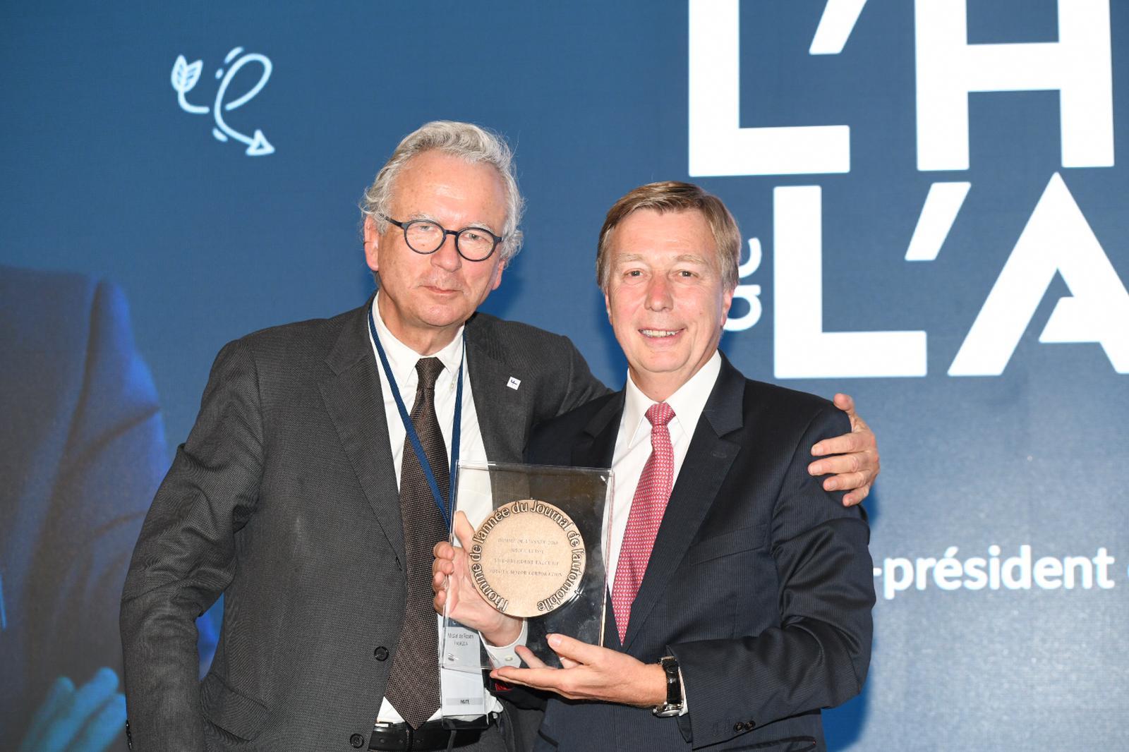 Didier Leroy célébré à la 38e édition de l'Homme de l'Année