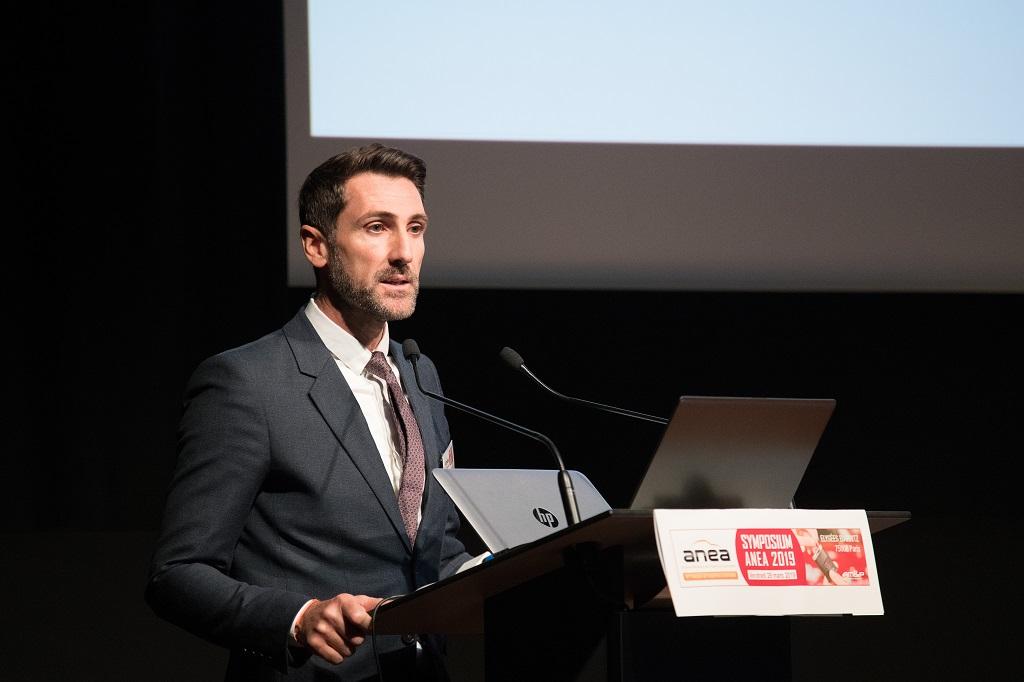 François Mondello, président de l'Anea, lors du symposium, le 29 mars 2019.