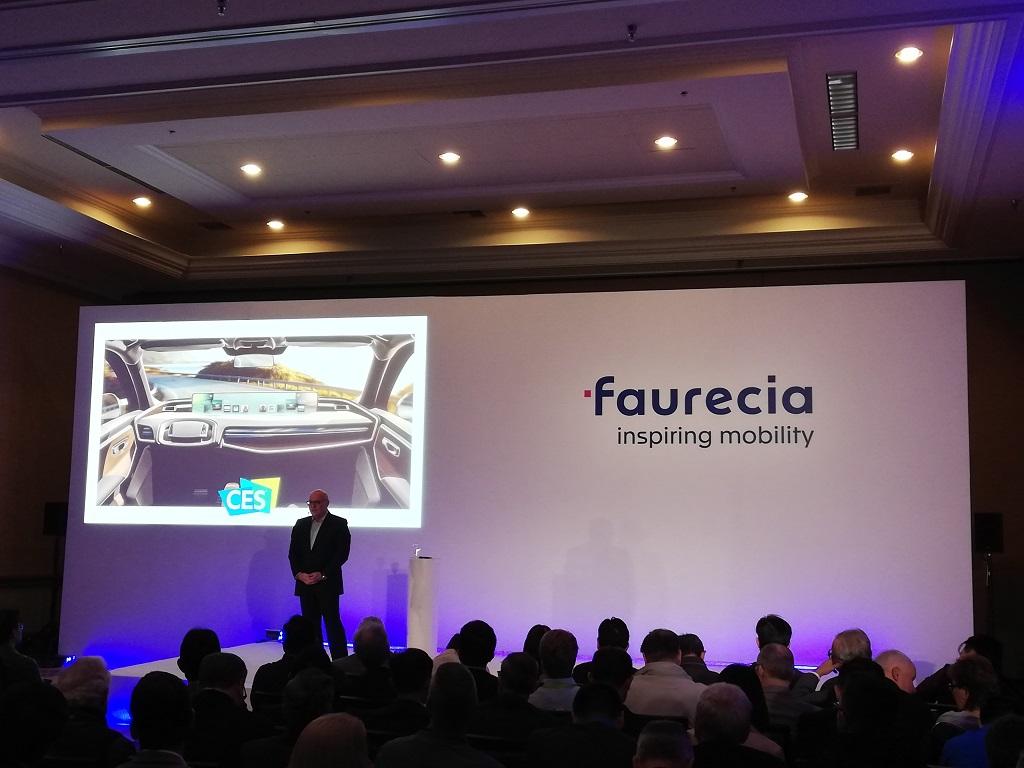 Patrick Koller, le directeur général de Faurecia, lors du CES 2019