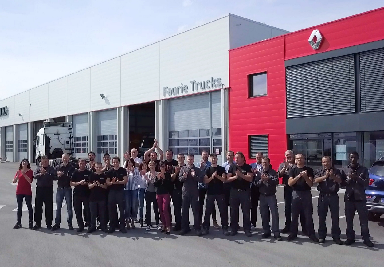 Le groupe Faurie inaugure sa nouvelle concession Renault Trucks