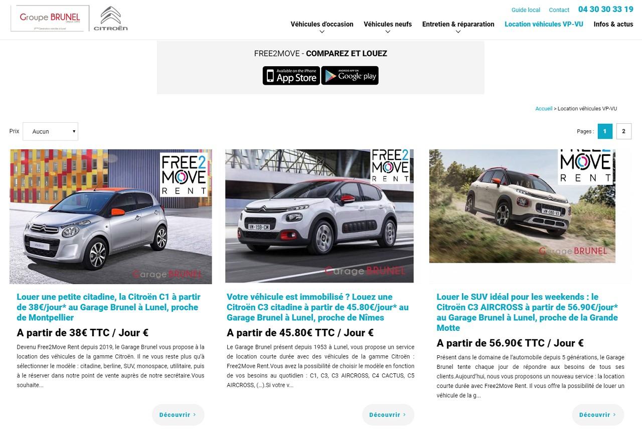 Free2Moove Rent bientôt en test chez les agents Citroën