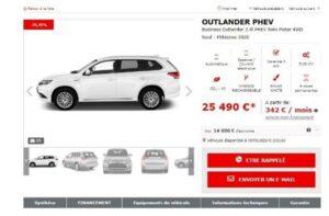 Mitsubishi valorise en ligne son offre de VN en stock