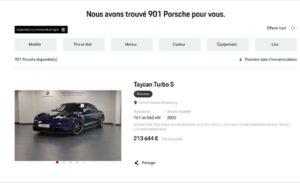 Porsche permet la commande en ligne de VN et VO