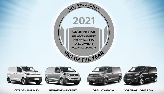 """Le trio électrique de PSA élu """"International Van of the year"""" 2021"""