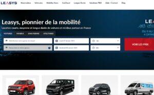 Leasys lance son portail consacré à ses services de location