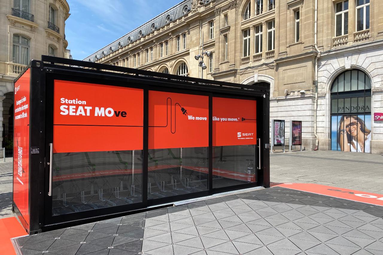 La station Seat MOve ouvre à Paris Saint-Lazare