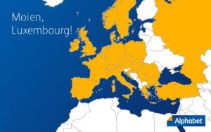 Alphabet ajoute le Luxembourg à son réseau international